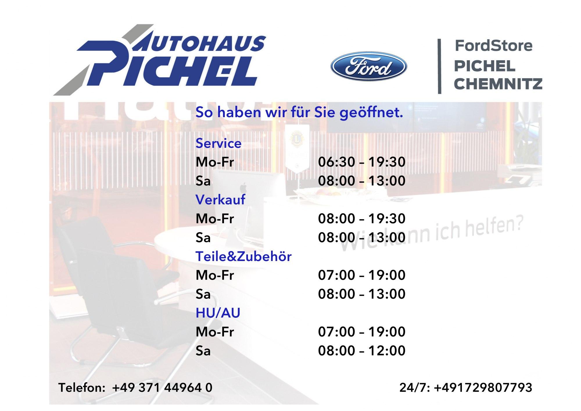 Öffnungszeiten FordStore Pichel Chemnitz